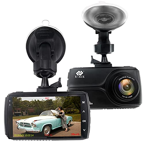 E-ACE Dash Cam with GPS 1080P FHD Driving Recorder 3' IPS Screen Video...