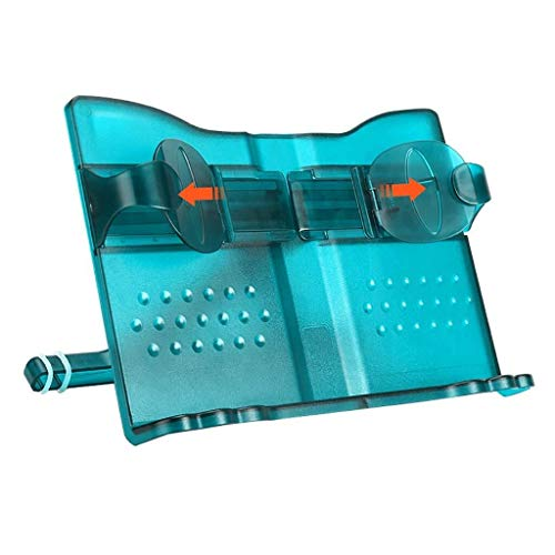 Ordner met leeshulp, antislip, siliconen ringen, hoogte van de installatie van elektronische apparaten, dik materiaal, ABS, 29,5 x 22 cm