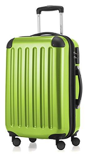 HAUPTSTADTKOFFER - Alex - 4 Doppel-Rollen Handgepäck Hartschalen-Koffer Trolley Rollkoffer Reisekoffer, 55 cm, 42 L, Apfelgrün