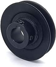 Phoenix Mfg. V-Groove Drive Pulley, 3.5'' Diameter, 22mm Bore, Steel