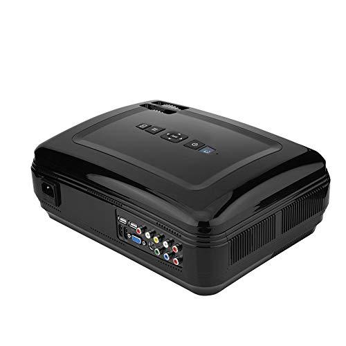 Mini 3D Proyector Portátil,1920 * 1080P,Proyector LED para Cine En Casa/Aula Multimedia/Sala de Reuniones,Soporta Wifi/Bluetooth,Suporta Teléfono/Computadora/TV/tarjeta SD/AV/VGA/HDMI/USB(EU Plug )