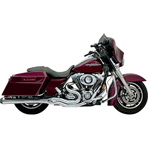 Bassani Xhaust B4 2-Into-1 Exhaust with Megaphone Muffler (Chrome) for 06-16 Harley FLHX2