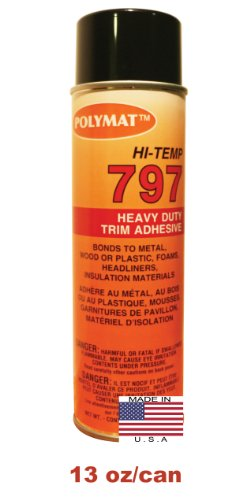 1 20oz Can (13oz net) Polymat 797 Hi-Temp Spray Glue Adhesive: Industrial Grade High Temperature...