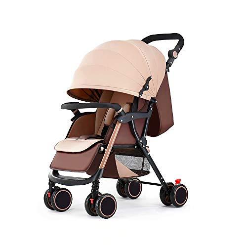 Baby Eiter Stühle und Kinderwagen - GZ Lightweight Faltbarer Buggy Fußsack Große Räder Von Geburt an bis 25 kg Melange CharcoalKhaki 1