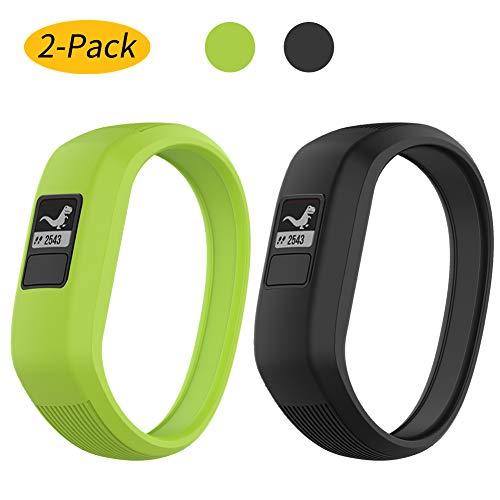 Vozehui Armband kompatibel mit Garmin Vivofit JR/Vivofit JR2 / Vivofit 3 Armbänd, verstellbare, Dehnbare Ersatzarmbänder aus weichem Silikon mit Schnalle für Vivofit jr/jr 2/3, für Kinder klein/groß
