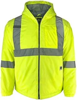 Class 2 Hi Vis Safety Two-Tone Lightweight Field Jacket 2.0 (Yellow, XX-Large)