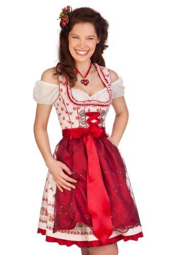MarJo Trachten Minidirndl 2tlg. - Luisa 2 - rosa, Größe 46