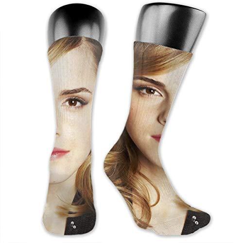 Emma Watson Unisex Fun Novelty Mid-Calf Boot Socks Fashion Breathable Dress Crew Socks