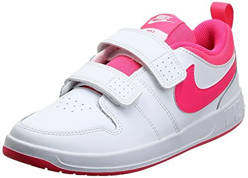Nike Pico 5 (TDV), Scarpe da Ginnastica Unisex-Bambini, White/Hyper Pink, 21 EU