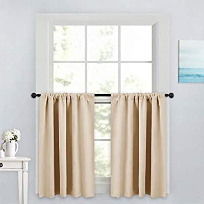 """PONY DANCE Blackout Curtains - Rod Pocket Draperies Set Thermal Insulated Curtain Panels Noise Reducing Window Treatment Drapes for Bedroom, Wide 42"""""""
