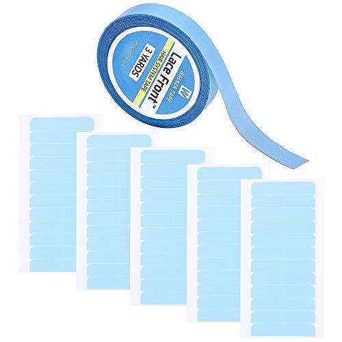 60 stuks haarverlenging tape tabs & 0,8 cm × 3 werven Lace Front pruik tape dubbelzijdig plakband voor haarinslagvervanging