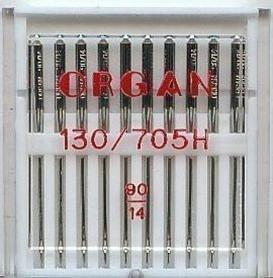 Aghi Organ Per Macchina Da Cucire Domestica Pacco Da 10, Misura 90 /14, Per Macchine Brother, Singer, Janome, Etc...