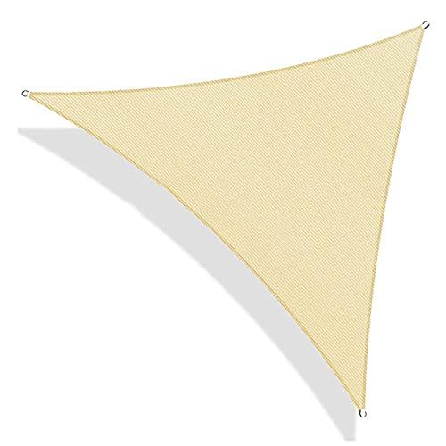 Toldo Vela de Sombra La cortina de Sun Sail Toldo vela Toldo vela Triángulo 185gsm HDPE 95% de protección ultravioleta for al aire libre Patio jardín de arena (con el Kit) Tamaño: 5.5x5.5m / 18x18ft p