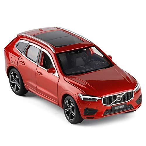 Autoveicoli 1:32 Model Car/Compatibile con Volvo XC60 / off-Road Lega Model Car Ammortizzante dello sterzo Completamente Aperto Metallo Modello (Color : Red)
