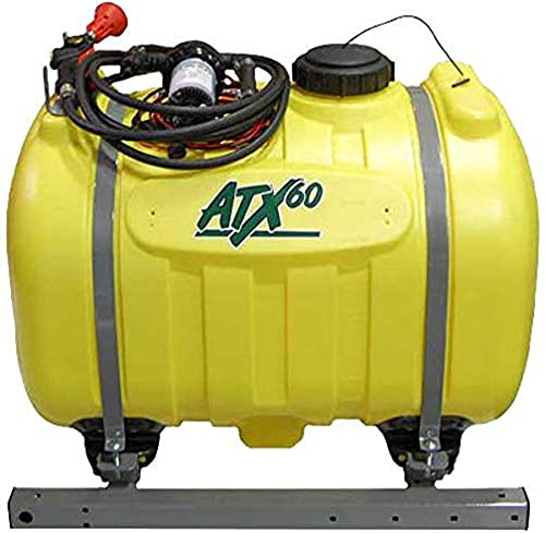 CropCare ATX60, Base Kit for 60 Gallon Sprayer with Pressure Regulator and Gauge for Spraying at The Desire Pressure, Pistol Grip Spray Gun with Adjustable Spray Patterns and 15' of Hose