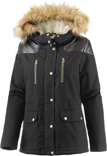 LTB Jeans Damen Parka Gosha Coat, Gr. 36 (Herstellergröße: S), Schwarz (Black 200)