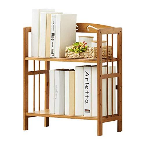 ZHANGJINYISHOP2016 Libreria Regolabile bambù Naturale Desktop Bookshelf 2 Strati da scrivania Multiuso mensola di Esposizione for Cucina Storage o Fiori e Piante mensola