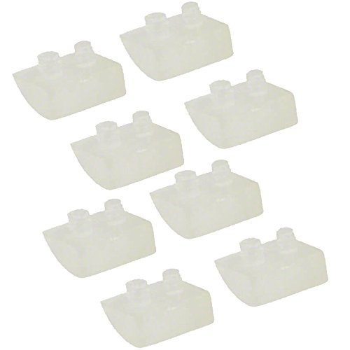 Impresa Products 8-Pack Pod Shoes for Concrete Pools - Equivalent to Hayward (TM) AXV414P / AXV014P and ProStar (TM) HWN115 - Replacement for Navigator and Pool Vac Vacuum Pool Cleaners