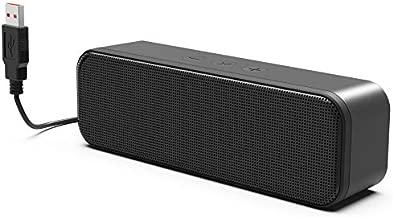 [Newer] USB Computer Speaker for Desktop, Laptop Speaker, PC Speaker, Small Computer Soundbar with Hi-Quality Sound, Loud Volume, Rich Bass, Volume Control