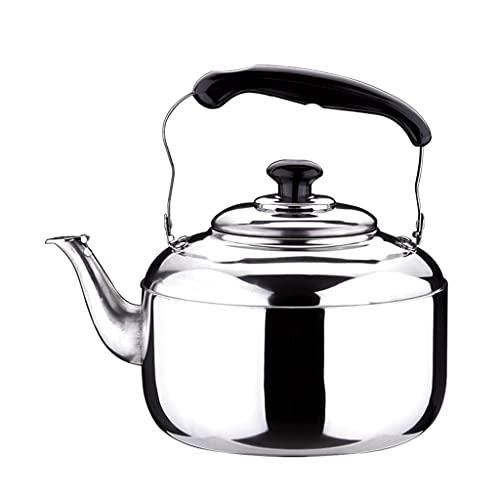 Leobtain Tetera inducción Varios silbidos de Acero Inoxidable de Acero Inoxidable Jugo de té de té de Tetera de Tetera para la Flor Suelta del té del café teteras para te (Color : 6L)