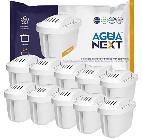 AGUANEXT 10 unidades, Cartuchos de filtro de agua compatibles con Brita Maxtra (not Maxtra+)