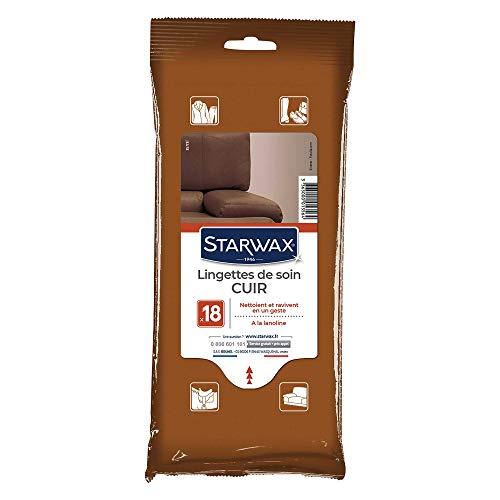 STARWAX Lingettes Soin Du Cuir - Sachet de 18