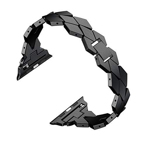 Fhony Correa de Metal Compatible con Apple Watch 38Mm 40Mm 42Mm 44Mm Correa de Acero Inoxidable con Hebilla de Metal Herramienta de Eliminación para Iwatch Series 6 5 4 3 2 1 Se,Negro,38/40mm