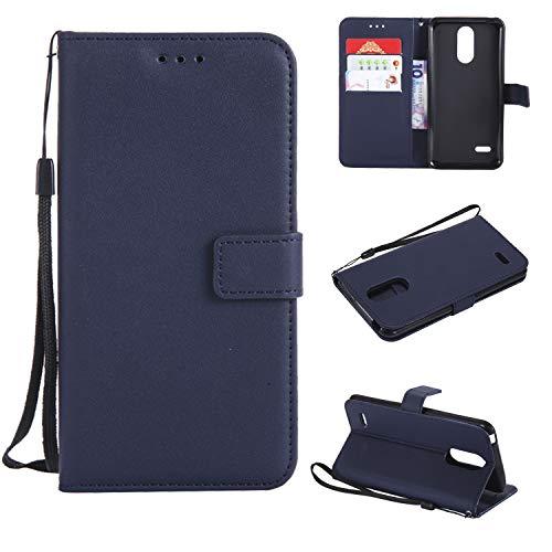 TTUDR Leder Wallet Case für LG K8 (2017) / US215 Wallet Flip Case mit Kickstand Kartenfächer Magnetverschluss Schutzhülle für LG K8 2017 - TTMS020853 Blau