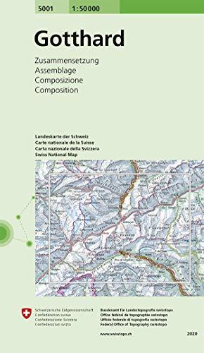5001 Gotthard: Zusammensetzung (Landeskarte 1:50 000 Zusammensetzungen)