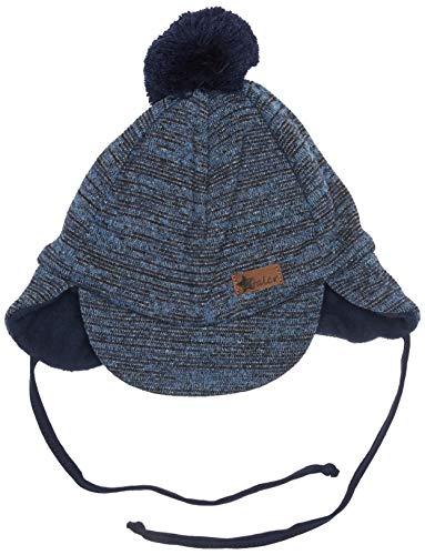 Sterntaler Schirmmütze für Jungen mit Bommel und Bindebändern, Alter: ab 9-12 Monate, Größe: 47, Blau (Marine)
