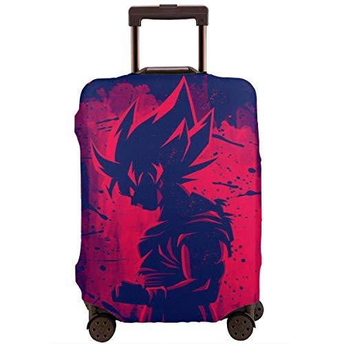 Funda de Equipaje de Viaje Dragon Ball Z Red Goku Funda de Equipaje de Viaje Protector de Maleta Fundas de Equipaje Lavables