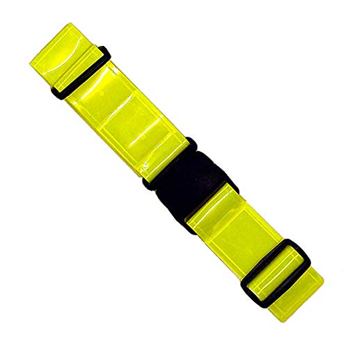 Stuart Promotional Products Lime Yellow, Reflective, Safety, Belt. Perfect for Running, Walking, Cycling, PT, Military.