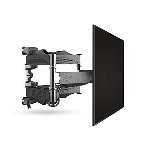 HnF Soporte de Pared para TV de Movimiento Completo para televisores de 32-55 Pulgadas, Soporte de Pared para TV con Brazos articulados giratorios, hasta VESA 400x400 mm y 88 lbs