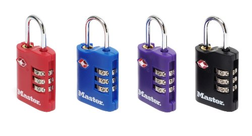Master Lock 2 TSA-Zahlenschlösser 30mm - Farblich sortiert, 4686EURT