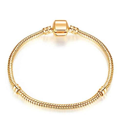 Stijlvolle eenvoud Nieuwe Eenvoudige Armband Verjaardagscadeau Dames Sieraden Mode Armband Sieraden Gift 17Cm Goud Kleur, DZ