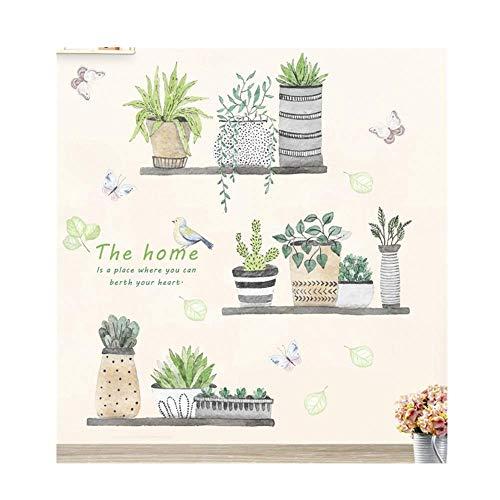 Meclelin WandSticker DIY Klebend Blumen set Deko für Wohn-Schlafzimmer Kinderzimmer Küche Flur