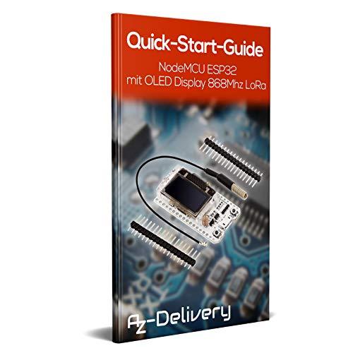 AZDelivery 3 x NodeMCU ESP32 Heltec mit 0,96 Zoll OLED Display und SX1276 868MHz LoRa inklusive E-Book!