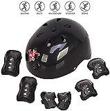 Voker Helmet Skate Protektoren Set,Skateboard Helm Kinderhelm Set 7 in 1 Schoner Set Protektoren Set...