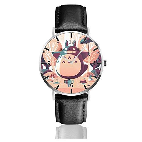 Los niños Miran Reloj Pulsera niño Historieta 3D Impermeable Mi Vecino Totoro Pantalla Redonda 38mm Batería de botón Poder Unisex Watch