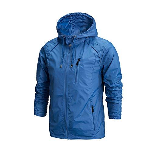 Try My Best Summer Casual Jacket Men Anti Uv Windbreaker Male Hooded Waterproof Basic Streetwear Long Sleeve Clothing,Sky Blue Style A,5XL