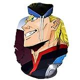 Ting Unisex 3D Anime My Hero Academia impresión Sudaderas con Capucha Jersey Ropa Chaqueta con Capucha Sudadera para Niño Niña Adolescente,1,XS