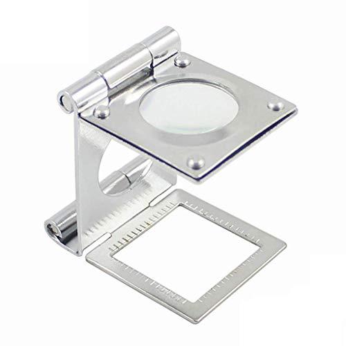 YO-TOKU Glas met licht 15X Folding Magnifier, Table top, metaal, met schaal, geschikt for kaarten, Kranten 2X 4X 25x Lightweight Handheld Glass Vergrootglazen