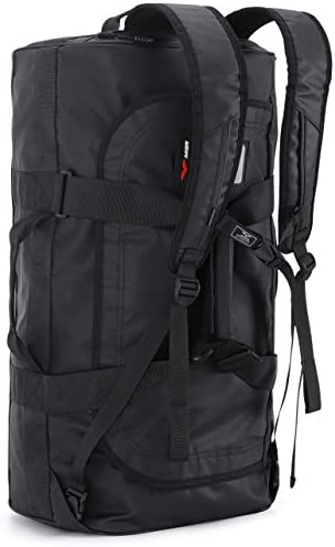 MIER 60L Water Resistant Backpack Duffle Heavy Duty Convertible Duffle Bag with Backpack Straps product image
