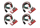 REES52 Mechanical end stop Switches ramps 1.4 module limit switch for reprap prusa Mendel 3D Printer parts with 3pin 70 cm cable -ENDSTOP switch for 3d printer- Pack of 4