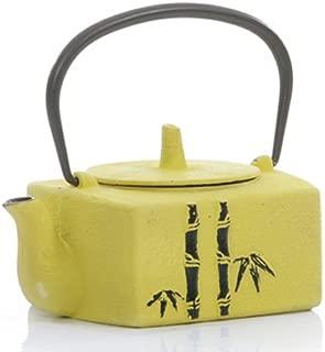 Bamboo Themed 26 Oz Cast Iron Tetsubin Teapot