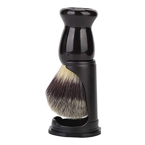 Blaireau rasage,Dekaim pinceau de rasage, outil de rasage de barbe en acrylique noir (pinceau à barbe + support)