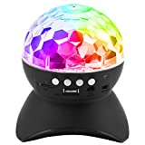 Party Lights, PEYOU [3-in-1] RGB Disco Ball LED Strobe Light Rechargeable Bluetooth Speaker