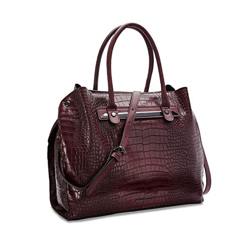 MARCO TOZZI Damen Handtasche 2-2-61029-25, Bordeaux Croco, 1 EU