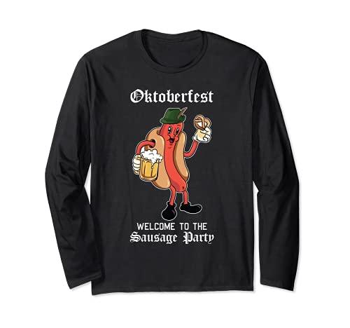 ソーセージパーティー オクトーバーフェスト ファニー ブラトヴュルスト ドイツ祭 長袖Tシャツ