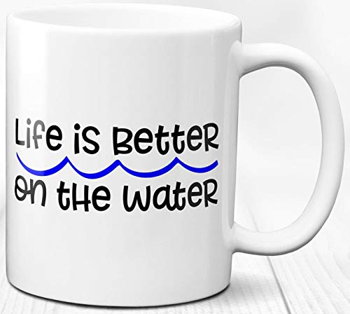 Segeln Kaffeebecher 330 ml Sailor Geschenk Liebe zu Segeln Zitat Meer Liebe Keramik Tasse